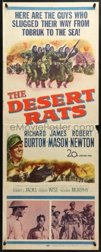 4f065 DESERT RATS insert 1953 Richard Burton leads Australian & New Zealand soldiers against Nazis!