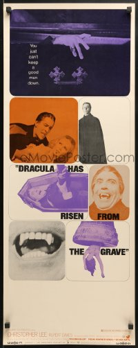 4f070 DRACULA HAS RISEN FROM THE GRAVE insert 1969 Hammer, cool image of sexy girl w/bandaids on neck!