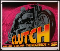 4g028 CHUCK SPERRY signed #71/150 23x27 art print 2009 by the artist, Clutch, great motorcycle art!