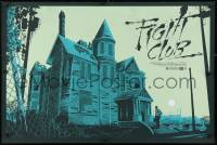 4g055 FIGHT CLUB signed 24x36 art print 2014 by artist Ken Taylor, art of the creepy house, 379/400!