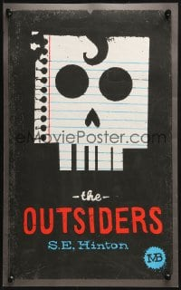 4g045 OUTSIDERS signed #71/130 2-sided 11x18 art print 2010s by artist Mikey Burton!