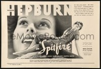 4g003 SPITFIRE 12x18 pressbook ad 1934 Hepburn as the lying, singing, praying witch girl!