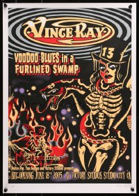 4g054 VINCE RAY signed #212/250 16x23 art print 2005 by the artist, Voodoo Blues in Furlined Swamp!