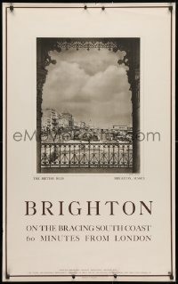4g018 BRIGHTON 25x40 English travel poster 1930s image by photographer J. Dixon Scott!