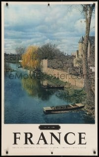 4g020 FRANCE 25x39 French travel poster 1950s image of Val de Loire by Molinard!