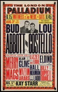4g060 ABBOTT & COSTELLO stage play English WC 1953 legendary comedy team performing live on stage!