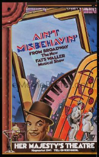 4g061 AIN'T MISBEHAVIN' stage play English WC 1979 Broadway, the new Fats Waller musical show!