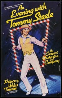 4g062 EVENING WITH TOMMY STEELE stage play English WC 1979 cool full-length art of the performer!