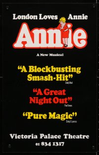4g063 ANNIE stage play English WC 1978 Victoria Palace, from Harold Gray's famous comic strip!