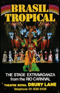 4g066 BRASIL TROPICAL stage play English WC 1979 sexy dancer and people in great costumes!