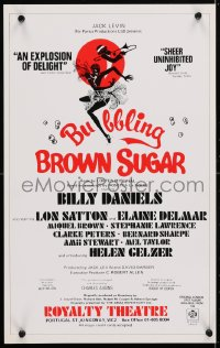 4g067 BUBBLING BROWN SUGAR stage play English WC 1978 Billy Daniels, Lon Satton, great art!