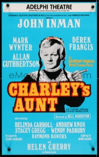 4g068 CHARLEY'S AUNT stage play English WC 1979 John Inman, Mark Wynter, Adelphi Theatre!
