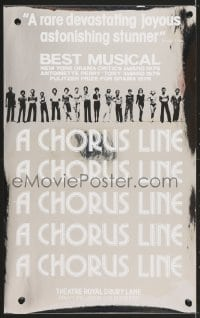 4g069 CHORUS LINE foil stage play English WC 1976 cool silver metallic image with cast!