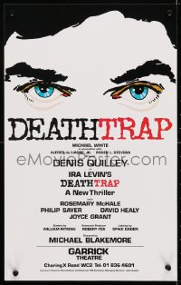 4g071 DEATHTRAP stage play English WC 1978 Ira Levin play, close-up eyes, later made into movie!