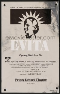 4g072 EVITA foil stage play English WC 1978 Andrew Lloyd Weber, Elain Page, David Essex!