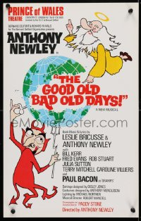 4g074 GOOD OLD BAD OLD DAYS stage play English WC 1972 Anthony Newley stars and directs!