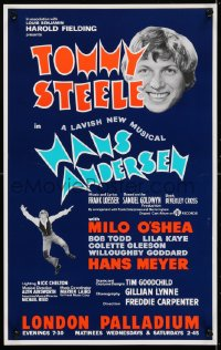 4g075 HANS ANDERSEN stage play English WC 1974 Tommy Steele, Milo O'Shea, London Palladium!
