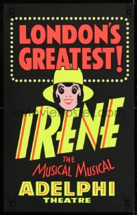 4g076 IRENE stage play English WC 1976 London's greatest, Julie Anthony in title role, black style!