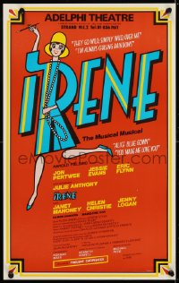 4g077 IRENE stage play English WC 1976 London's greatest, Julie Anthony in title role, red style!