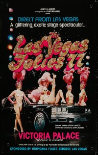 4g078 LAS VEGAS FOLIES '77 stage play English WC 1977 a glittering, exotic stage spectacular!