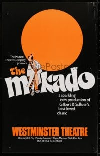 4g079 MIKADO stage play English WC 1979 Gilbert & Sullivan's best loved classic, cool art!