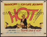 4j077 SOME LIKE IT HOT signed 1/2sh 1959 by Billy Wilder, sexy Marilyn Monroe with Curtis & Lemmon!