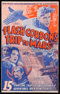 4j276 FLASH GORDON'S TRIP TO MARS pressbook 1938 Buster Crabbe, Jean Rogers, Middleton, ultra rare!