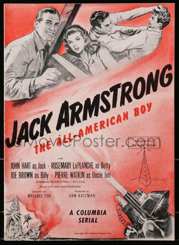 eMoviePoster com: 4j307 JACK ARMSTRONG pressbook 1947 Cravath art of