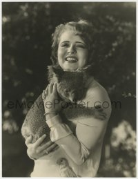 4k130 CLARA BOW deluxe 10x13 still 1920s wonderful portrait holding koala bear by Otto Dyar!
