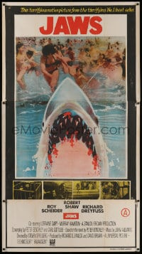 4k032 JAWS Indian 3sh 1975 different art of bloody shark by terrified beachgoers, ultra rare!