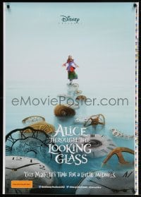 4k028 ALICE THROUGH THE LOOKING GLASS printer's test teaser DS Aust 1sh 2016 Disney, rare!