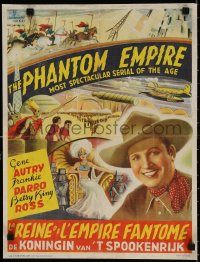 4k044 PHANTOM EMPIRE Belgian R1940s Gene Autry in most spectacular serial of the age, rare!