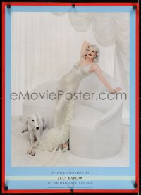 4k081 MARILYN MONROE 20x28 commercial poster 1983 as Jean Harlow for Richard Avedon from 1958!