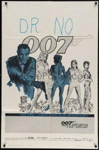 4k136 DR. NO 1sh 1963 ultra rare perhaps blue/black test version printed with no title or tagline!