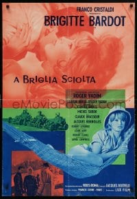 4k050 ONLY FOR LOVE Italian 27x38 pbusta 1961 four images of sexy Brigitte Bardot, ultra rare!
