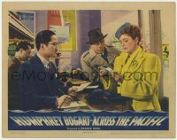 4k193 ACROSS THE PACIFIC LC 1942 Humphrey Bogart & Victor Sen Yung w/Mary Astor in travel agency!