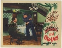 4k200 ARSENIC & OLD LACE LC 1944 oblivious cop Jack Carson talks to bound & gagged Cary Grant!