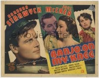 4k151 BANJO ON MY KNEE TC 1936 sailor Joel McCrea in love with beautiful Barbara Stanwyck!