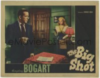 4k205 BIG SHOT LC 1942 great image of Irene Manning pointing gun at smoking Humphrey Bogart!