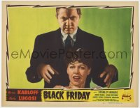 4k208 BLACK FRIDAY LC #4 R1947 great c/u of Bela Lugosi hypnotizing scared Anne Nagel, Realart!