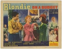 4k209 BLONDIE ON A BUDGET LC 1940 Penny Singleton between Arthur Lake & stunning Rita Hayworth!