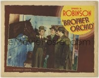4k212 BROTHER ORCHID LC 1940 smiling Edward G Robinson in race horse stable with two guys!