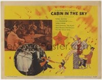 4k213 CABIN IN THE SKY LC 1943 Duke Ellington, Lena Horne, Eddie Anderson, Hirschfeld-like art!