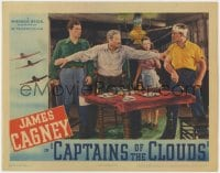 4k214 CAPTAINS OF THE CLOUDS LC 1942 Alan Hale stops James Cagney & Dennis Morgan from fighting!