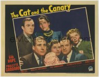 4k216 CAT & THE CANARY LC 1939 great posed portrait of Paulette Goddard, Bob Hope & top cast!
