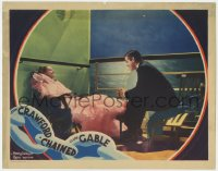 4k217 CHAINED LC 1934 great image of Clark Gable & elegant Joan Crawford on cruise ship at night!