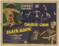 4k154 CHARLIE CHAN IN BLACK MAGIC TC 1944 c/u of Sidney Toler, wacky Mantan Moreland & skeleton!