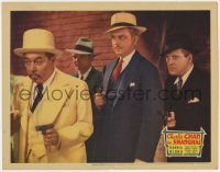 4k219 CHARLIE CHAN IN SHANGHAI LC 1935 close up of Asian detective Warner Oland & men with guns!