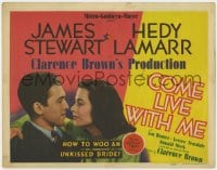 4k155 COME LIVE WITH ME TC 1941 sexy Hedy Lamarr & James Stewart, how to woo an unkissed bride!