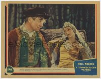 4k223 CONNECTICUT YANKEE LC 1931 great c/u of Will Rogers staring at Myrna Loy as Morgan le Fay!